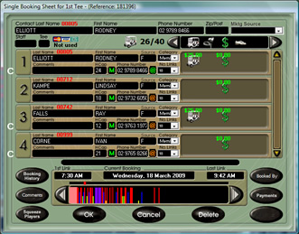 golf computer systems facts software